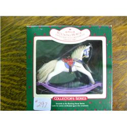 1987 Rocking Horse Christman Ornament Hallmark Collectible Series