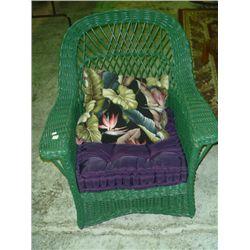 Green Wicker Chair