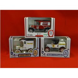 3- ERTL truck banks; 1905 Coast to Coast Ford Delivery car, 1917 Harware Hank Model T, 1918 Coast to