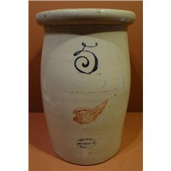 RW 5 gal. churn, 4 in. wing, hairline