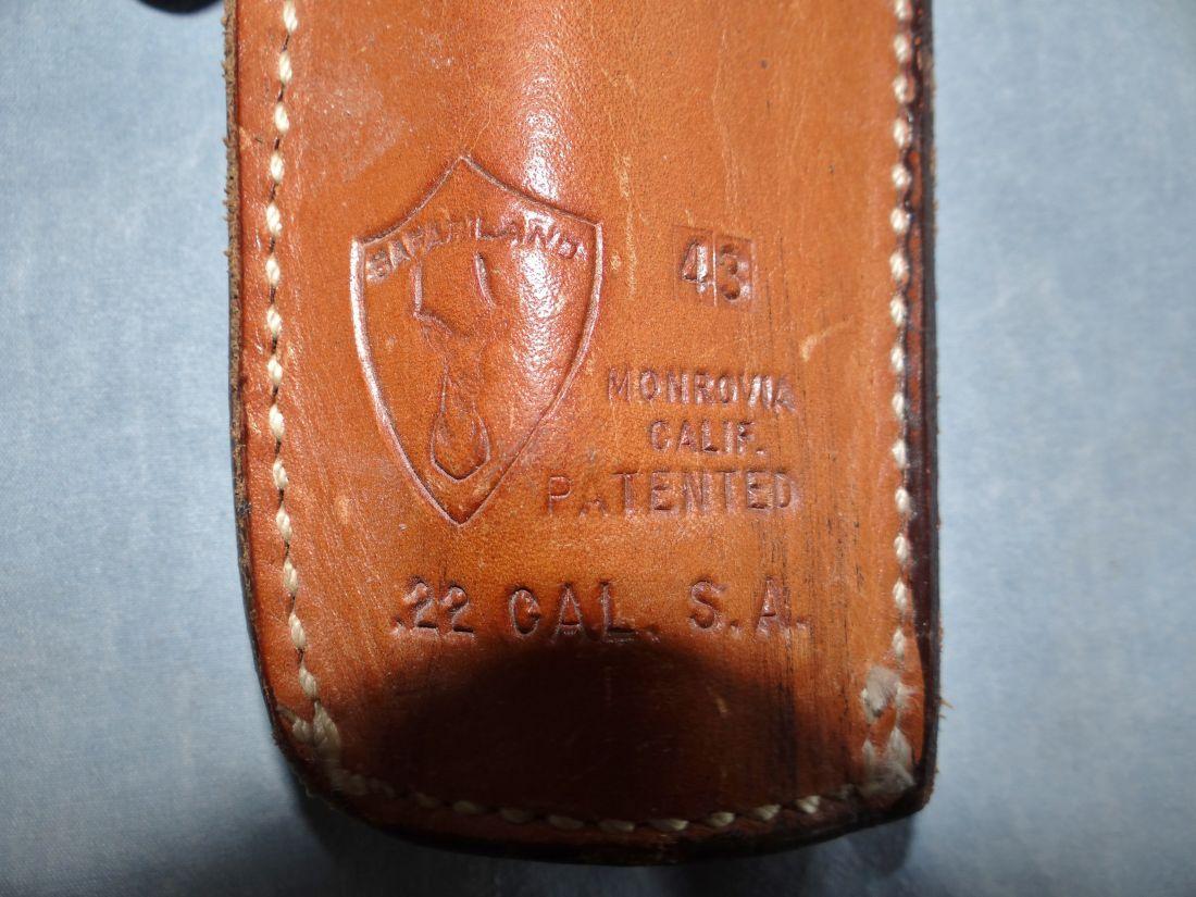 CALIFORNIA holster & gun belt, for 22 cal