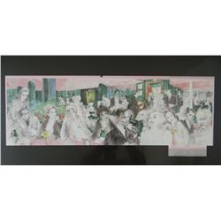 "Leroy Neiman, Polo Lounge, Offset lithiographic poster, 32""x 10"""