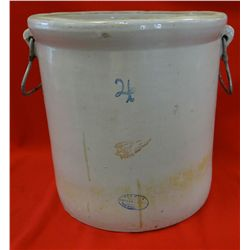 RW 4 gal. crock, 2in. Wing, hairlines