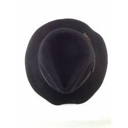 MICHAEL JACKSON WORN BLACK FEDORA WITH FEATHER