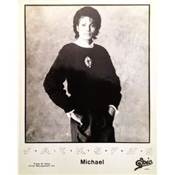 MICHAEL JACKSON SIGNED PROMOTIONAL PHOTO