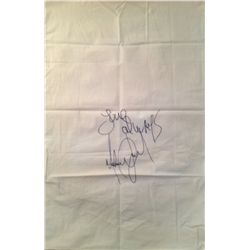 MICHAEL JACKSON SIGNED PILLOWCASE