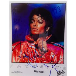 MICHAEL JACKSON SIGNED AND INSCRIBED PROMOTIONAL PHOTO