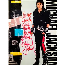 MICHAEL JACKSON SIGNED AND INSCRIBED BAD TOUR PROGRAM