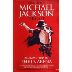 MICHAEL JACKSON THIS IS IT CONCERT POSTER