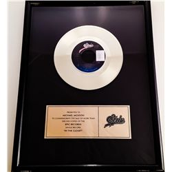 "MICHAEL JACKSON IN HOUSE GOLD RECORD AWARD FOR ""IN THE CLOSET'"