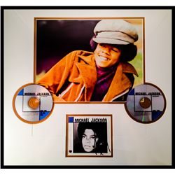 MICHAEL JACKSON SIGNED FRAMED DISPLAY