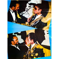 MICHAEL JACKSON SIGNED DOUBLE SIDED POSTER