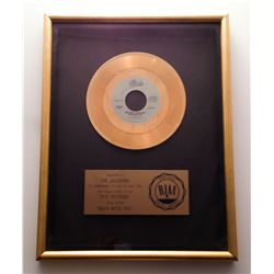 "MICHAEL JACKSON RIAA GOLD RECORD AWARD FOR ""ROCK WITH YOU"""