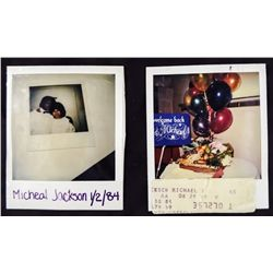 MICHAEL JACKSON POLAROID PHOTOS AND HOSPITAL CHART LABEL