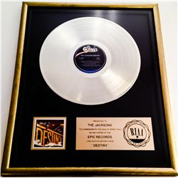"JACKSONS RIIA GOLD RECORD AWARD FOR ""DESTINY"""