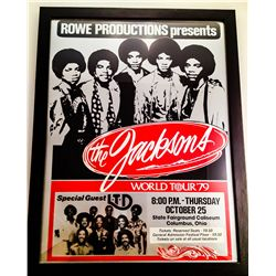 JACKSONS 1979 WORLD TOUR FRAMED POSTER