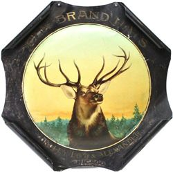 Antique Elk Brand Hats tin advertiser