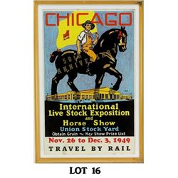 Original 1949 Chicago Poster 50th Anniversary