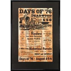 Original vintage Deadwood Rodeo Poster