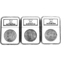 Collection of 3 Morgan Silver Dollars