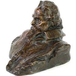 Bronze bust by Gutzom Borglum 1903