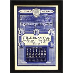 1935 calendar Steele-Siman & Co. 29 Years Progress