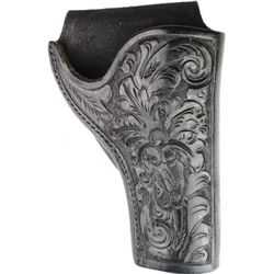 SD Myres El Paso black floral carved holster
