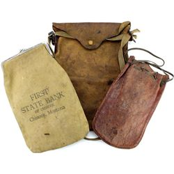 Collection of 3 includes leather document bag,