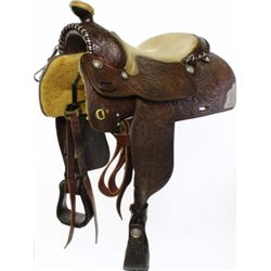 Silver show saddle attributed to Victor Saddlery
