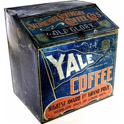 Early Yale Coffee bulk tin from dry good store,