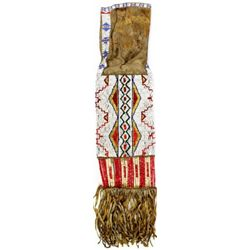 C. 1890's Northern Plains large beaded pipe bag,