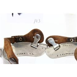 """EF Blanchard No. 4SS spurs with 1 1/2"""" heel"""