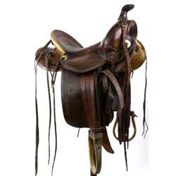 Maker mark Miles City Montana saddle cat. No. 477
