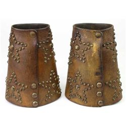 Early fancy pair spotted cuffs with studded 5