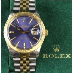 Mans Rolex Oyster Perpetual Datejust wrist watch