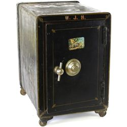 Small antique Vulcan Safe on casters