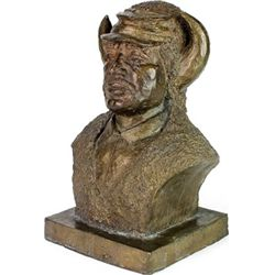 """Bronze """"Buffalo Soldier"""" by African American"""