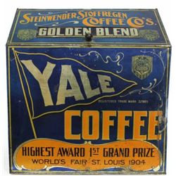 Antique Yale Coffee tin from early dry good store,