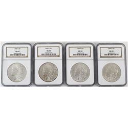 Collection of 4 Morgan Silver Dollars