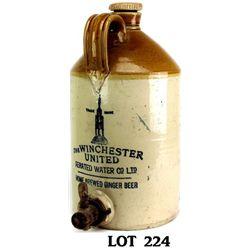 Antique stoneware dispenser marked Winchester