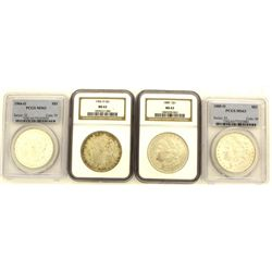 Collection of 4 Moran Silver Dollars
