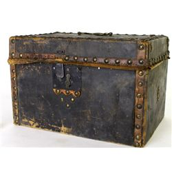 Small 19th C. leather bound travel box