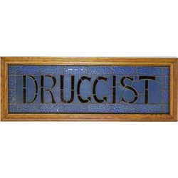 Great antique Druggist sign, red ruby