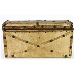 Fine little leather bound document box