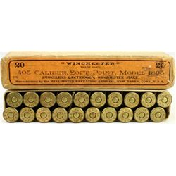 Full correct box 405 cal. Soft Point Model 1895