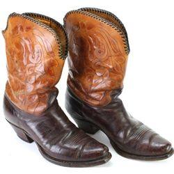 Fine pair vintage cowboy boots by Nocona