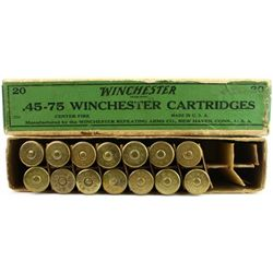 Winchester 45-75 ammo for 1876, 14 rounds,