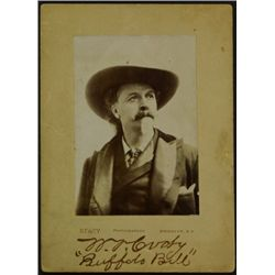Original Buffalo Bill Cody signed cabinet card