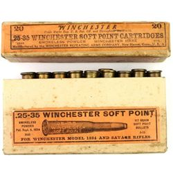 Box  25-35 Winchester Soft Point ammo