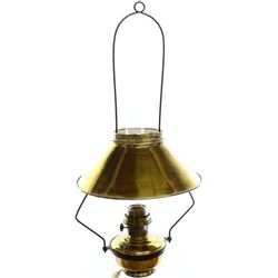 Antique brass hanging saloon style lamp
